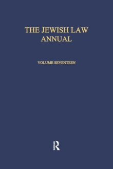 The Jewish Law Annual Volume 17, Paperback / softback Book