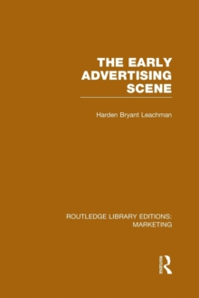 The Early Advertising Scene, Paperback / softback Book
