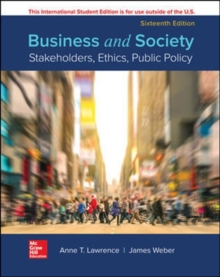 ISE BUSINESS AND SOCIETY: STAKEHOLDERS ETHC PUBLIC POLICY, Paperback / softback Book