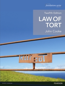 Law of Tort, Paperback Book