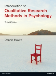 Introduction to Qualitative Research Methods in Psychology, Paperback / softback Book