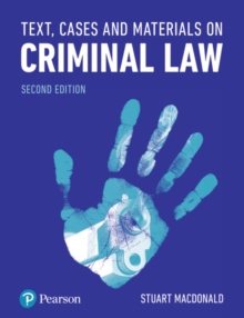 Text, Cases and Materials on Criminal Law, Paperback / softback Book