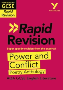 York Notes for AQA GCSE (9-1) Rapid Revision: Power and Conflict AQA Poetry Anthology, Paperback / softback Book