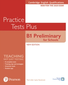 Cambridge English Qualifications: B1 Preliminary for Schools Practice Tests Plus Student's Book without key, Paperback / softback Book