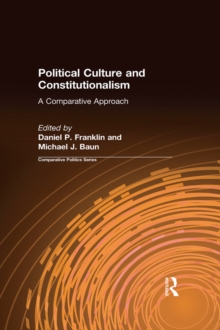 Political Culture and Constitutionalism: A Comparative Approach : A Comparative Approach, EPUB eBook