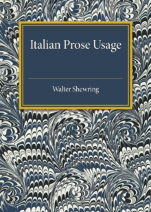 Italian Prose Usage : A Supplement to Italian Grammars, Paperback / softback Book