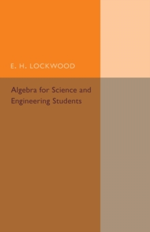 Algebra for Science and Engineering Students, Paperback / softback Book