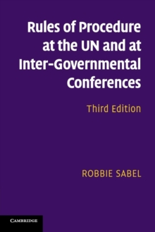 Rules of Procedure at the UN and at Inter-Governmental Conferences, Paperback / softback Book