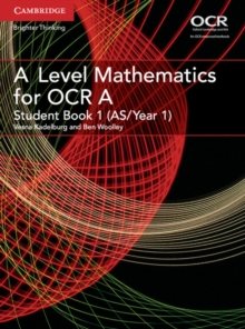 A Level Mathematics for OCR Student Book 1 (AS/Year 1), Paperback / softback Book