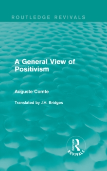 A General View of Positivism, EPUB eBook