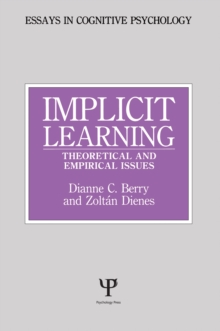 Implicit Learning : Theoretical and Empirical Issues, EPUB eBook