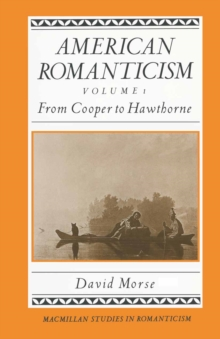 American Romanticism : From Cooper to Hawthorne - Excessive America, PDF eBook