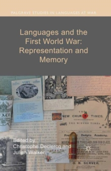 Languages and the First World War: Representation and Memory, Paperback / softback Book