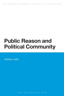 Public Reason and Political Community, Paperback / softback Book