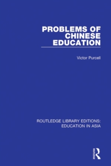 Problems of Chinese Education, EPUB eBook