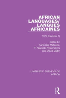 African Languages/Langues Africaines : Volume 5 (1) 1979, PDF eBook