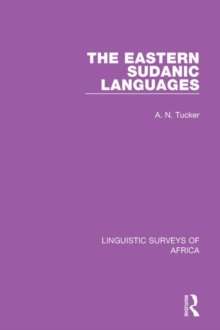 The Eastern Sudanic Languages, PDF eBook