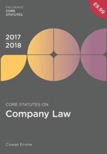 Core Statutes on Company Law 2017-18, Paperback Book
