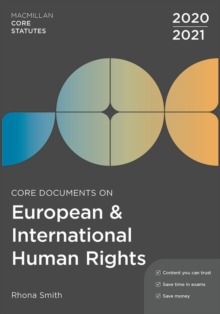 Core Documents on European and International Human Rights 2020-21, Paperback / softback Book
