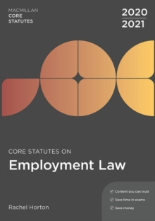 Core Statutes on Employment Law 2020-21, Paperback / softback Book