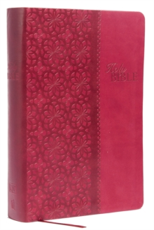 KJV Study Bible, Leathersoft, Red/Pink, Red Letter Edition : Second Edition, Leather / fine binding Book