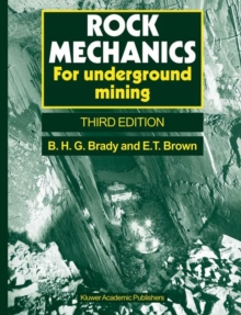 Rock Mechanics : For underground mining, Paperback Book