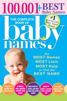 Complete Book of Baby Names, Paperback Book