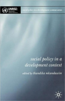 Social Policy in a Development Context, Paperback / softback Book