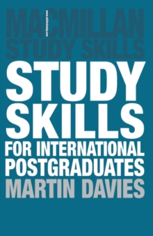 Study Skills for International Postgraduates, Paperback Book