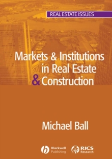 Markets and Institutions in Real Estate and Construction, Paperback Book