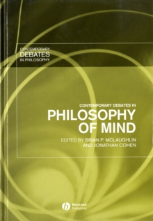Contemporary Debates in Philosophy of Mind, Hardback Book