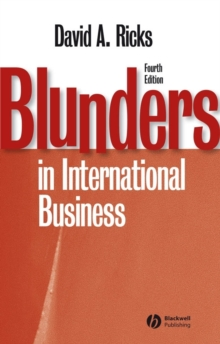 Blunders in International Business, Paperback / softback Book