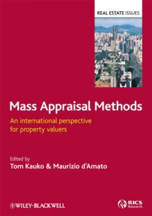 Mass Appraisal Methods : An International Perspective for Property Valuers, Hardback Book