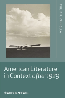 American Literature in Context After 1929, Hardback Book