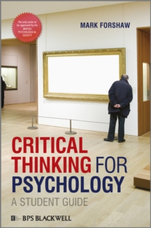 Critical Thinking for Psychology : A Student Guide, Paperback Book