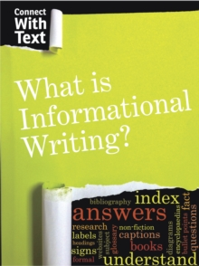 What is Informational Writing?, Hardback Book
