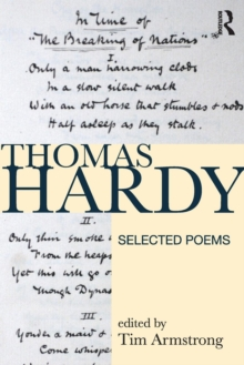 Thomas Hardy : Selected Poems, Paperback / softback Book