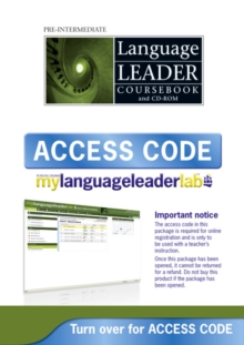 Language Leader Pre-Intermediate MyLab and Access Card, Digital product license key Book