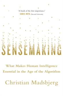 Sensemaking : What Makes Human Intelligence Essential in the Age of the Algorithm, Hardback Book