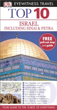 Top 10 Israel including Sinai and Petra, Paperback Book