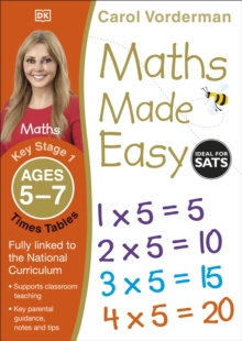 Maths Made Easy Times Tables Ages 5-7 Key Stage 1, Paperback / softback Book
