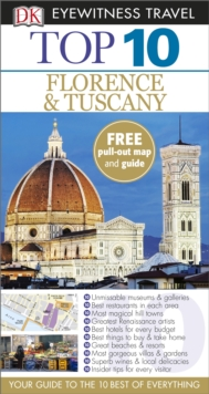 DK Eyewitness Top 10 Travel Guide: Florence & Tuscany, Paperback Book