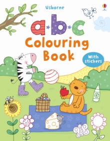 ABC Colouring Sticker Book, Paperback Book