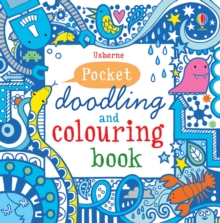 Blue Pocket Doodling & Colouring Book, Paperback Book