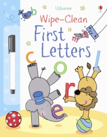 Wipe-Clean First Letters, Hardback Book