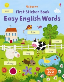 Easy English Words Sticker Book, Paperback Book