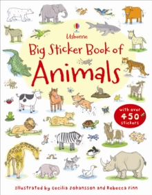 Big Sticker Book of Animals, Paperback Book
