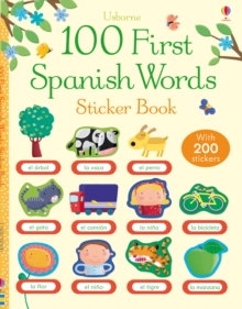 100 First Spanish Words Sticker Book, Paperback Book