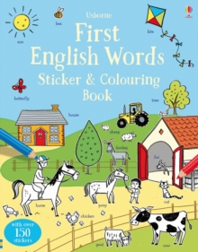 First English Words Sticker and Colouring Book, Paperback Book