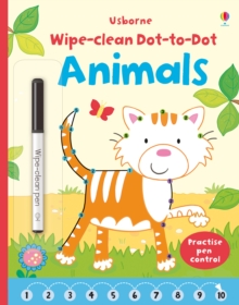 Wipe-Clean Dot-to-Dot Animals, Paperback Book